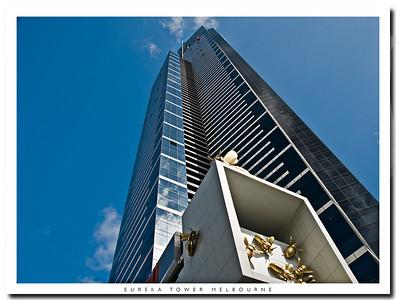 Eureka Tower in Melbourne Victoria Australia