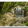 Waterfalls in the Chinese Garden of Friendship,Darling Harbour,Sydney, Australia