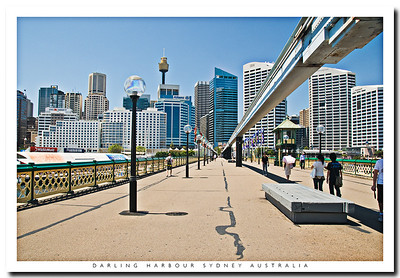 Sydney Monorail over Darling Harbour, Sydney, Australia