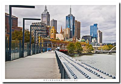A view of skyscrapers in Melbourne, Victoria Australia