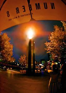 Yarra Riverside Gas Torch, Melbourne, Australia, Feb. 2007