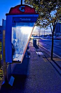 Payphone at Sunset, Melbourne, Australia, Feb. 2007