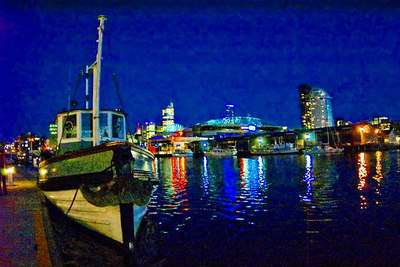 Melbourne Quay at Night, February 2007