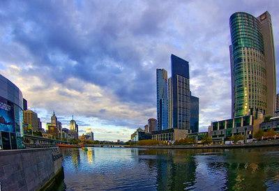 Yarra Riverfront, Melbourne, Australia, Feb. 2007