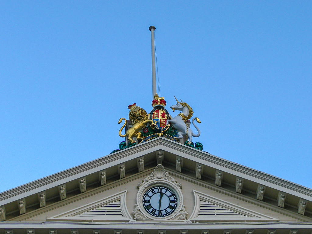 The top of the law school at Victoria University of Wellington. Another indication of the building's original use as a government facility.