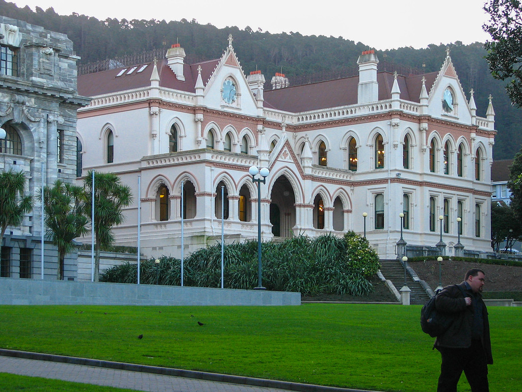 New Zealand government buildings complex in Wellington.