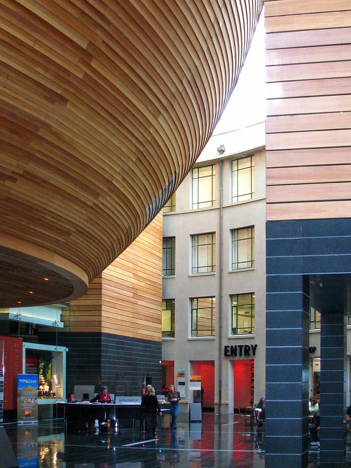 The Auckland Museum's new atrium.