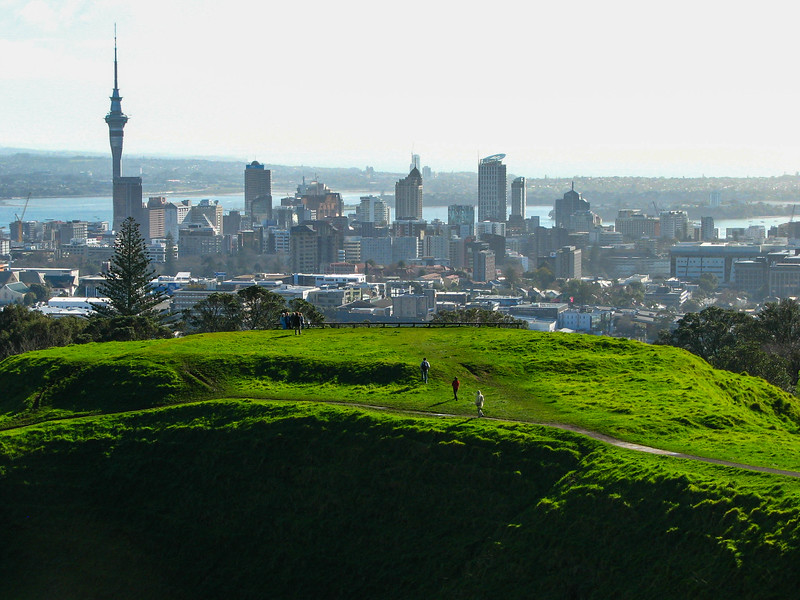 Another view of downtown from the top of Mt. Eden.