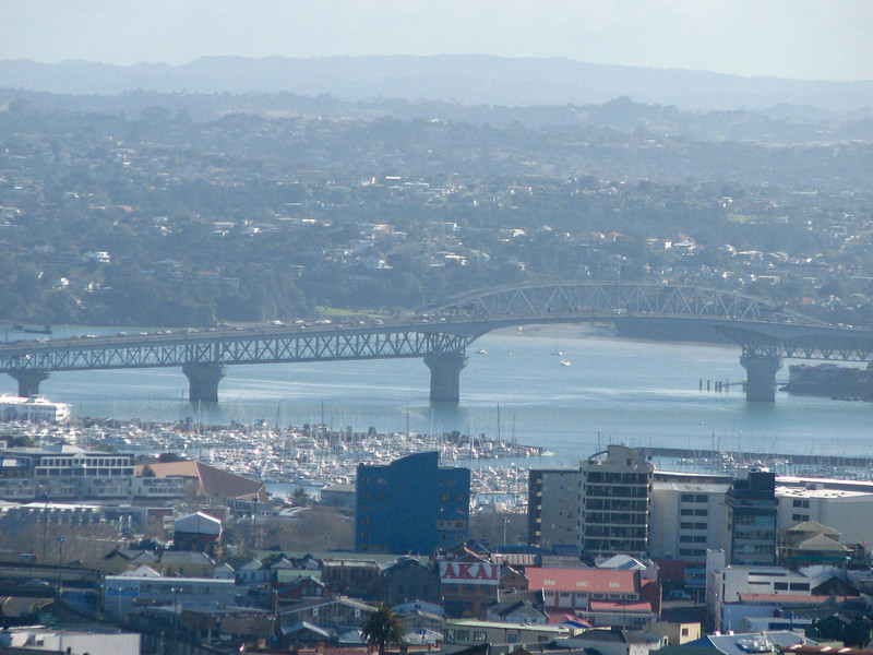 View of the Harbour Bridge from the top of Mt. Eden.