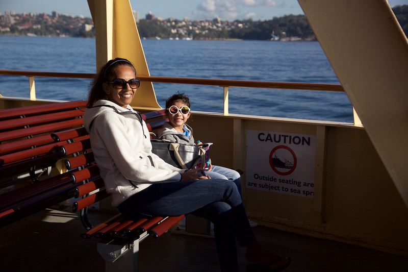 Taking the ferry to Manly