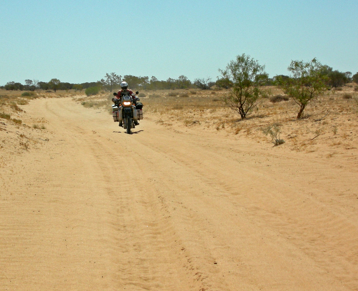 My favourite - NOT! Lots of sand on the ride from Innamincka to Coongie Lakes