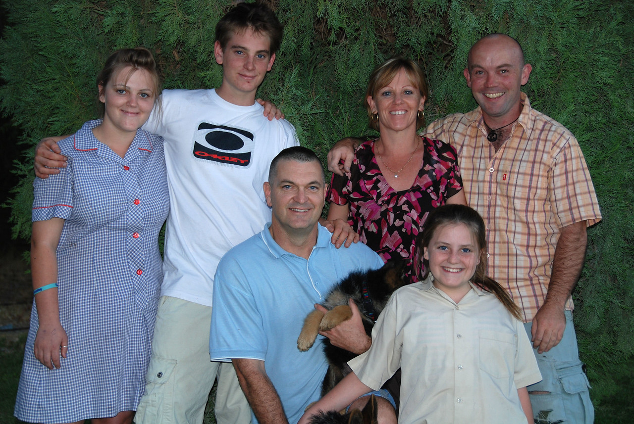 With the Ashley family, Alice Springs, NT