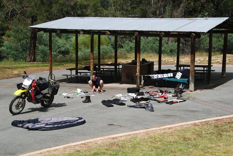 Cotter Dam campsite, Canberra
