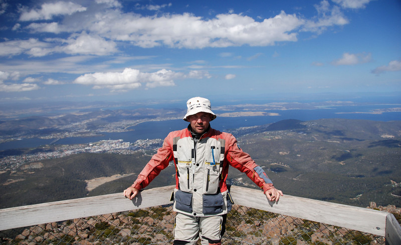 Hobart , Tasmania from Mt.Welington