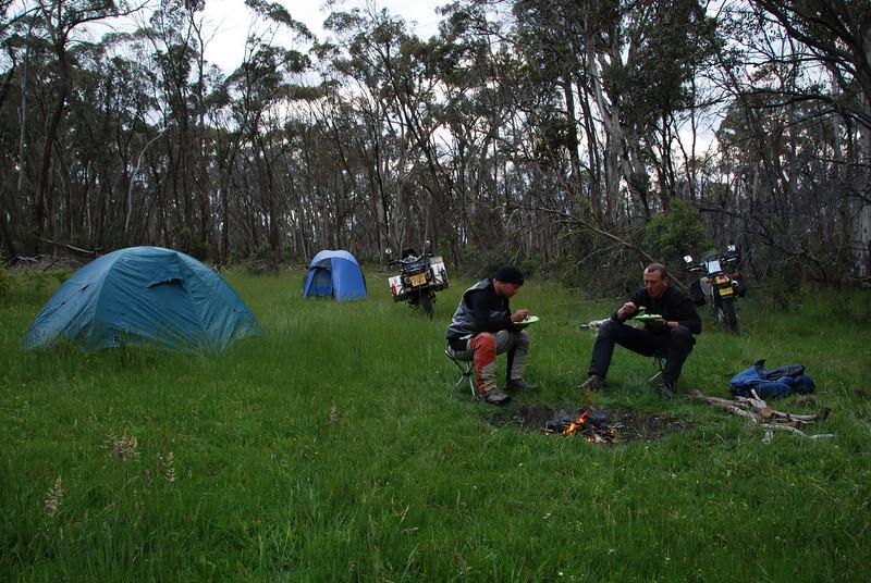 Bush Camp.  Nr. Omeo, Victoria
