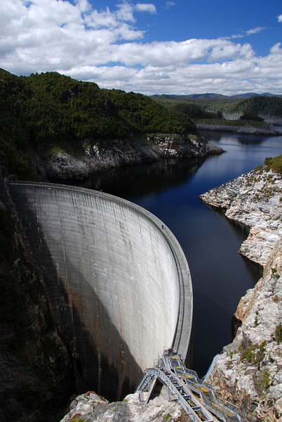 Gordon Dam,  Gordon & Franklin Rivers NP