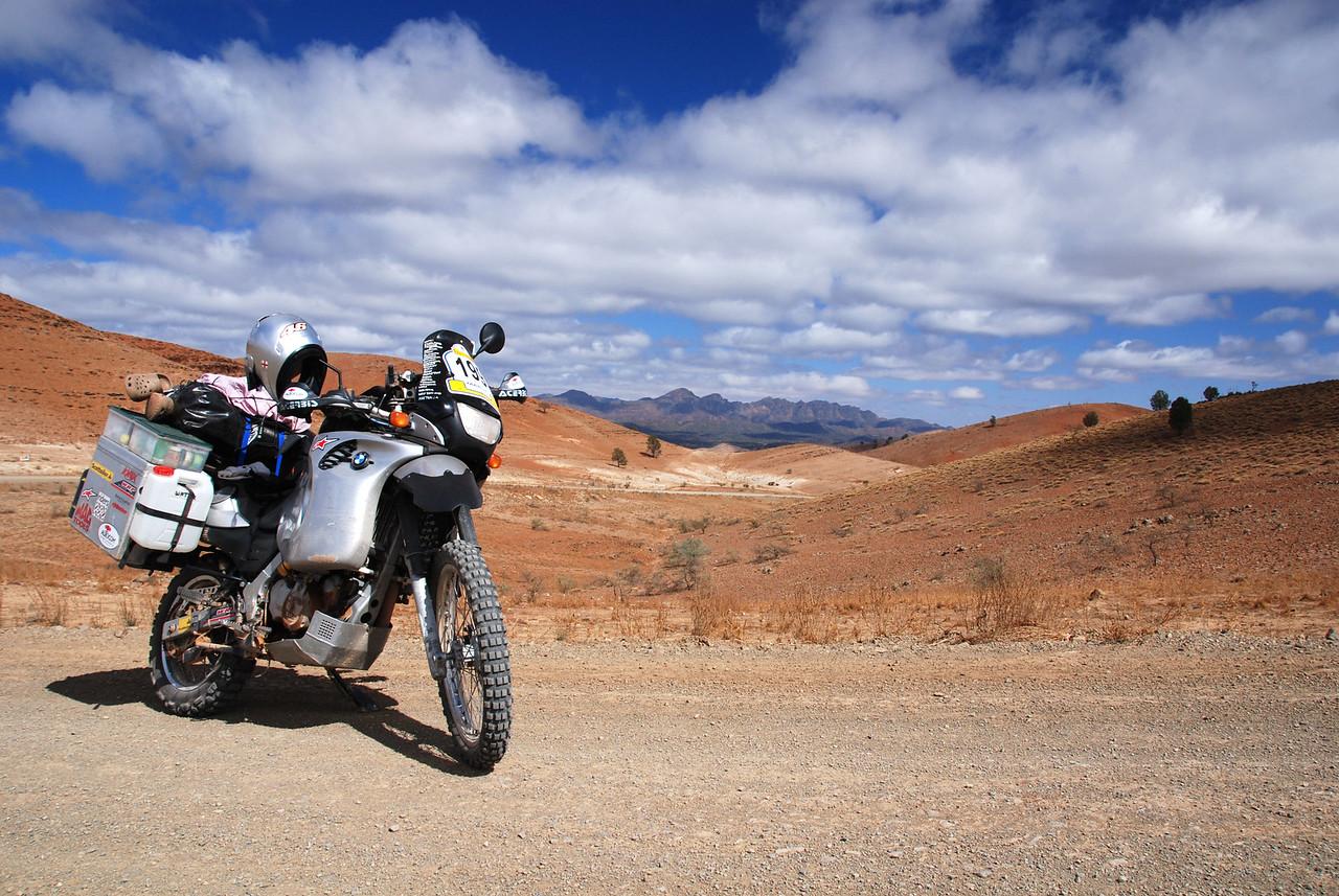 Leaving the Flinders Ranges, SA