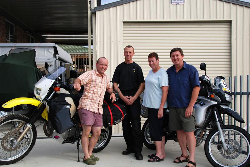 Adam Lewis, Tim Hobin, Chris and Wayne Todhunter. Nr Newcastle, NSW