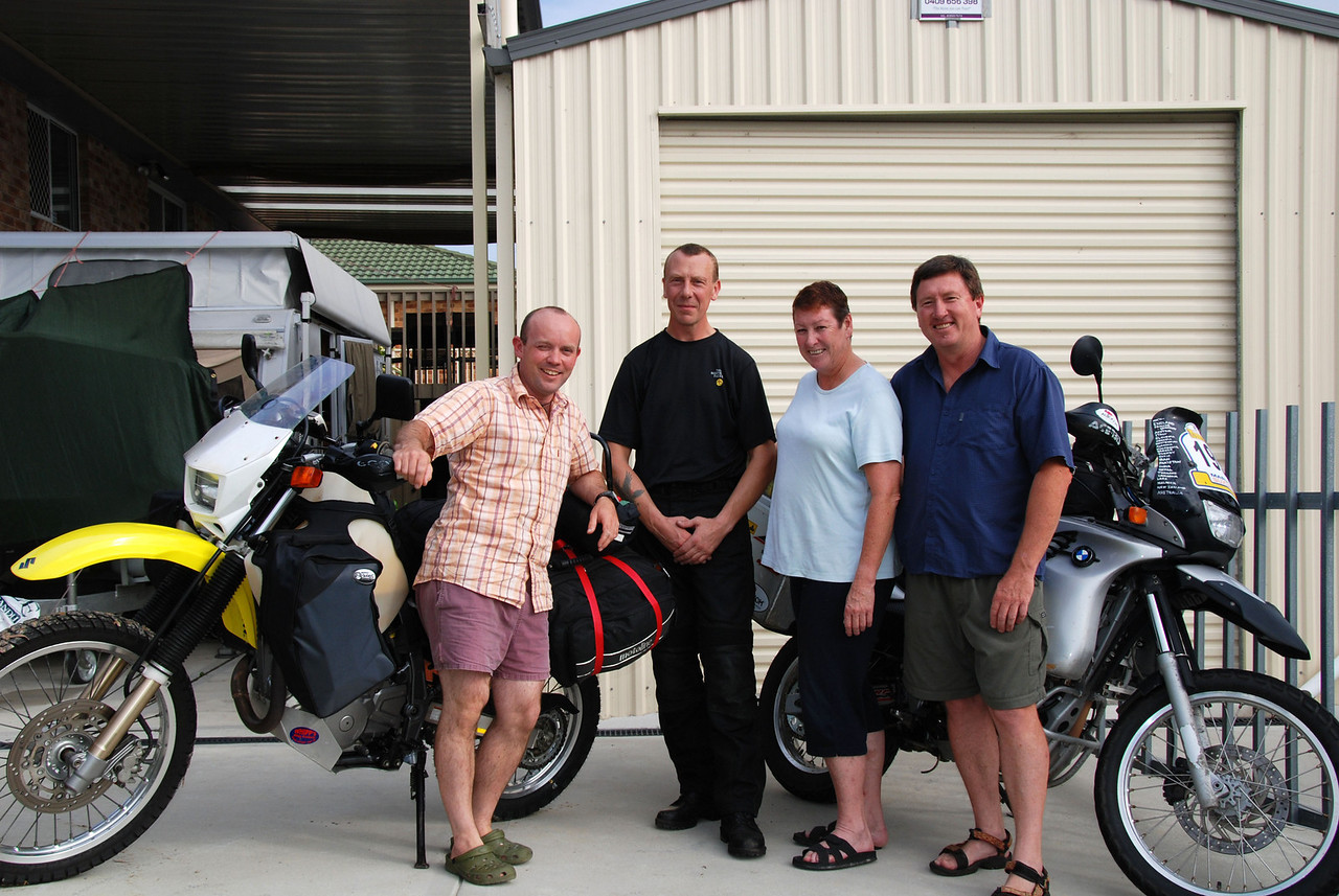 Adam Lewis, Tim Hobin, Chris and Wayne Todhunter. Nr Newcastle, NSW