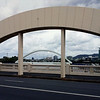 6 April 2013: View of Merivale Bridge, from William Jolly Bridge (formerly Grey Street Bridge), Brisbane.