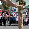 High-kicking stilt walker. The Running of the Sheep, Boorowa, 5 October 2008.