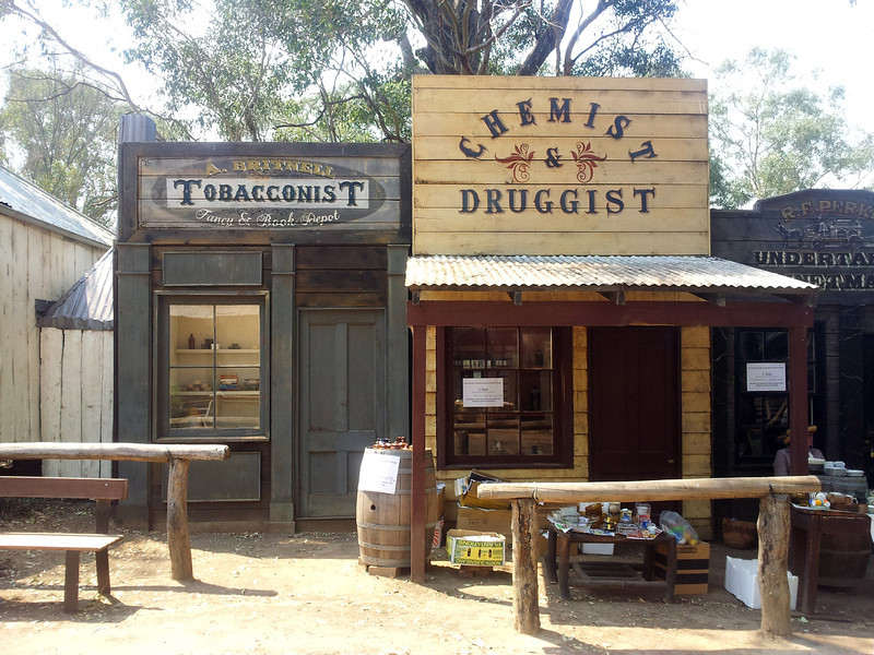 27 October 2013: Australiana Pioneer Village, Wilberforce, New South Wales. Streetscape.