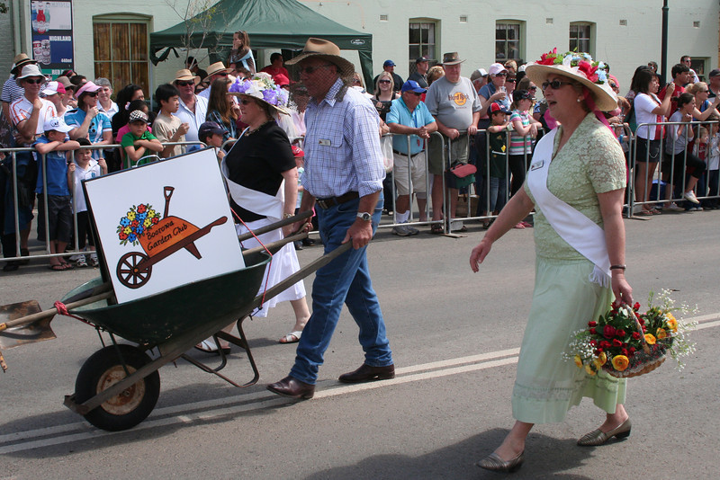 Floral beauties. The Running of the Sheep, Boorowa, 5 October 2008.