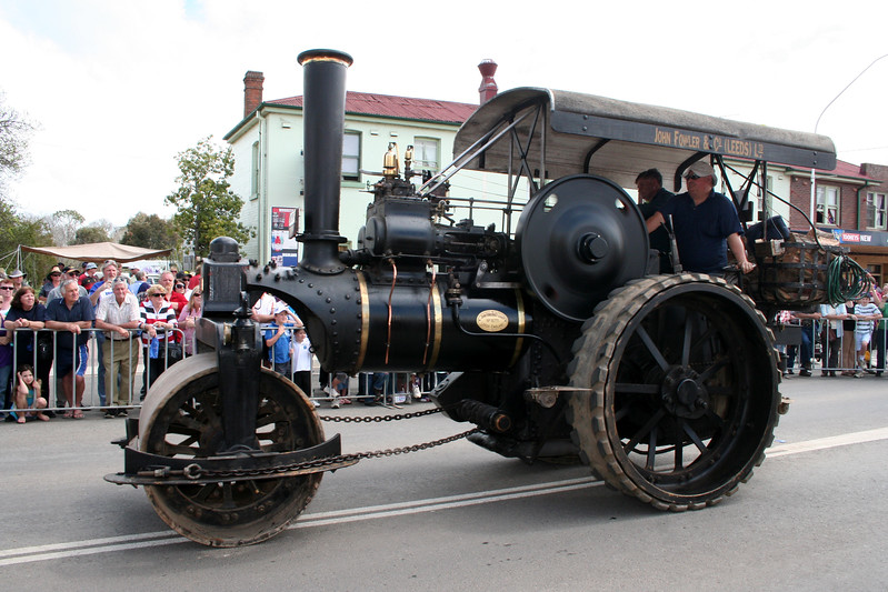 Vintage steamroller. The Running of the Sheep, Boorowa, 5 October 2008.