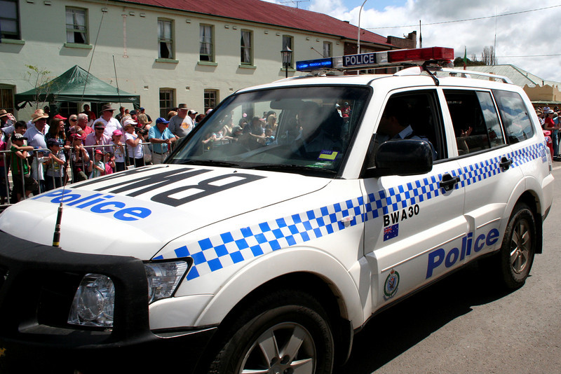 Police escort. The Running of the Sheep, Boorowa, 5 October 2008.
