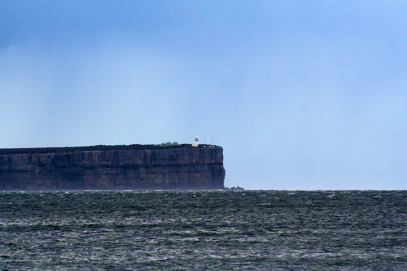 17 August 2012: Point Perpendicular, Jervis Bay. View from Hyams Beach.