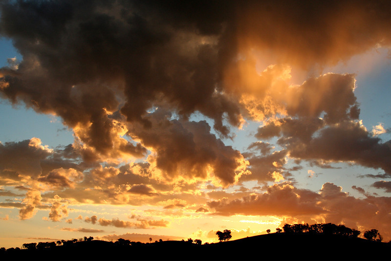 5 January, 2012 @ Reids Flat, New South Wales: Gilded sunset.