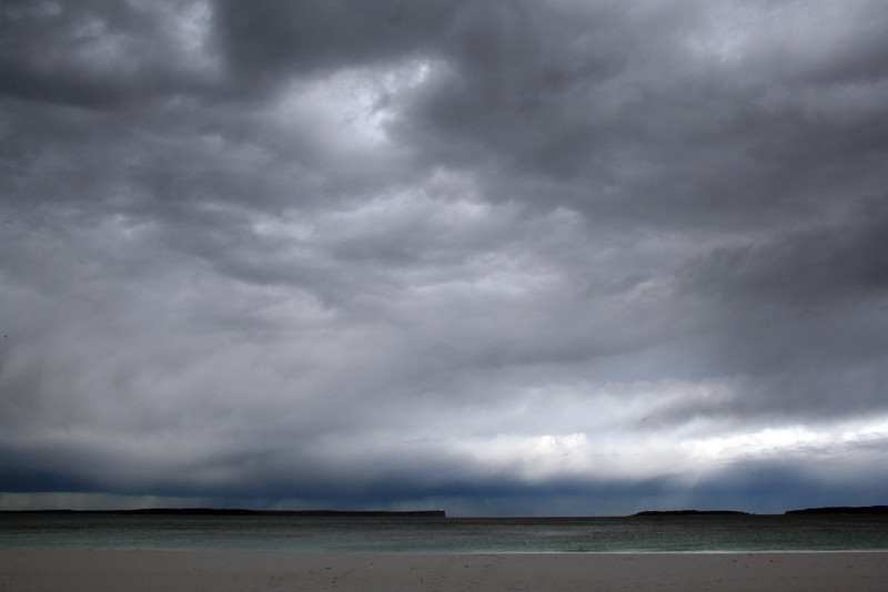 17 August 2012: Jervis Bay stormscape. View from Hyams Beach.