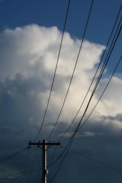 Suburban skyscape with cumulonimbus storm cell. Rivett, Canberra, 15 July, 2009.