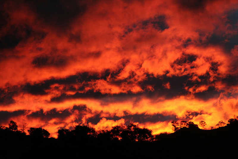 Autumn sunset, Reids Flat, New South Wales.