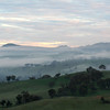 Queen's Birthday long weekend, June 2007: Land and sky merge as winter mists blanket the Lachlan Valley at Reids Flat, New South Wales..