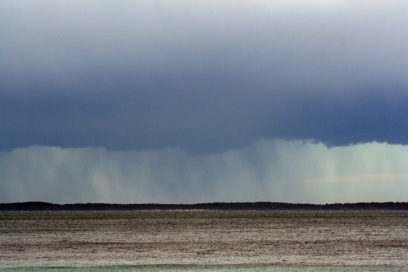 17 August 2012: storm over Jervis Bay. View from Hyams Beach.