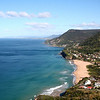 A blue-green day in the south Pacific; Stanwell Park beach and the Illawarra coastline, looking towards Wollongong. View from Bald Hill.