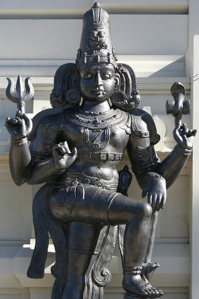 Lord Siva. Main entrance statue, Sri Venkateswara Hindu Temple, Helensburgh, New South Wales. Located south of Sydney, the temple is the largest Hindu place of worship in the southern hemisphere.