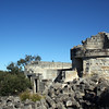 19 August 2012: Ruins of Cape St George lighthouse at the southern approach to Jervis Bay.