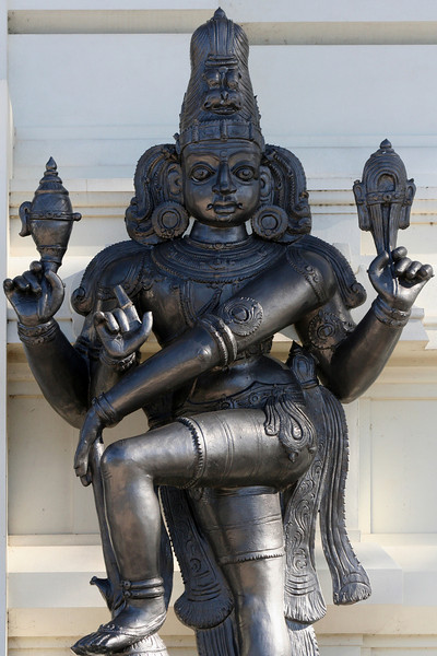Lord Vishnu. Main entrance statue, Sri Venkateswara Hindu Temple, Helensburgh, New South Wales. Located south of Sydney, the temple is the largest Hindu place of worship in the southern hemisphere.