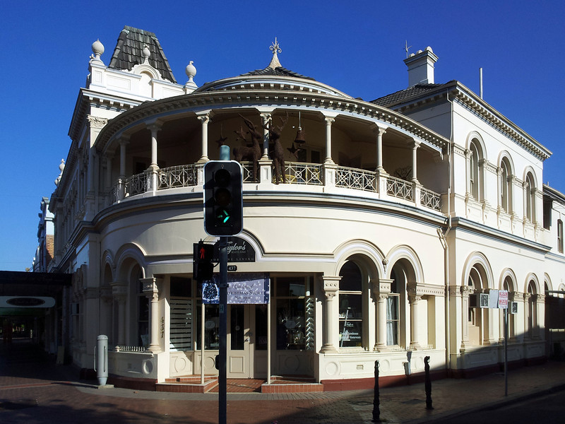 19 October 2013: 19th century Italianate building, Maitland, New South Wales.