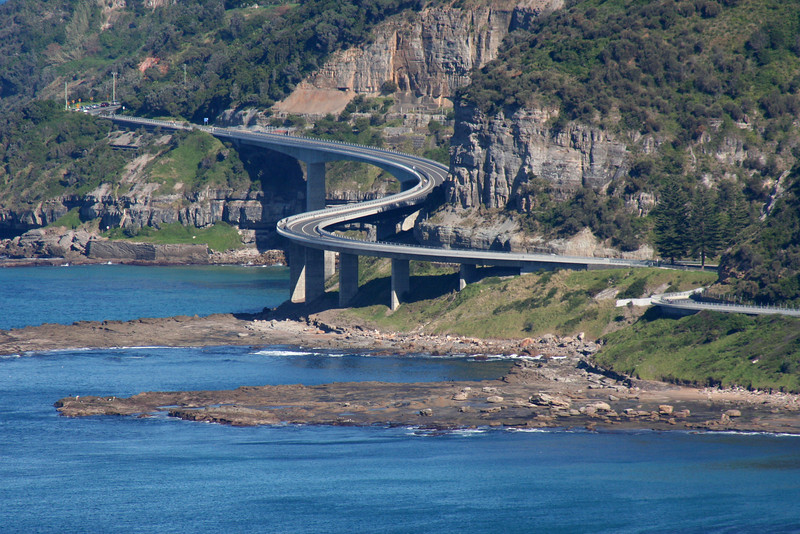 Seacliff Bridge, Coalcliff, New South Wales, as seen from Bald Hill, above Stanwell Park.