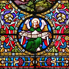 30 April 2016: Stained glass window detail, St Matthew's Anglican Church, Windsor, New South Wales.