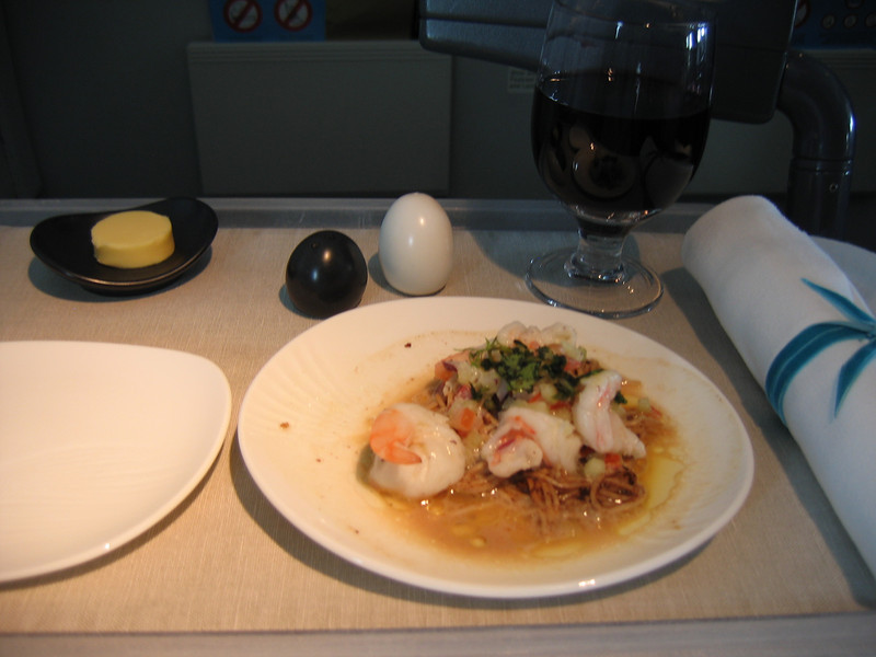 The appetizer on the 3 hour Air New Zealand flight from Sydney to Auckland!