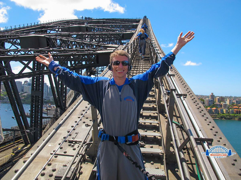 About to climb the Harbour Bridge