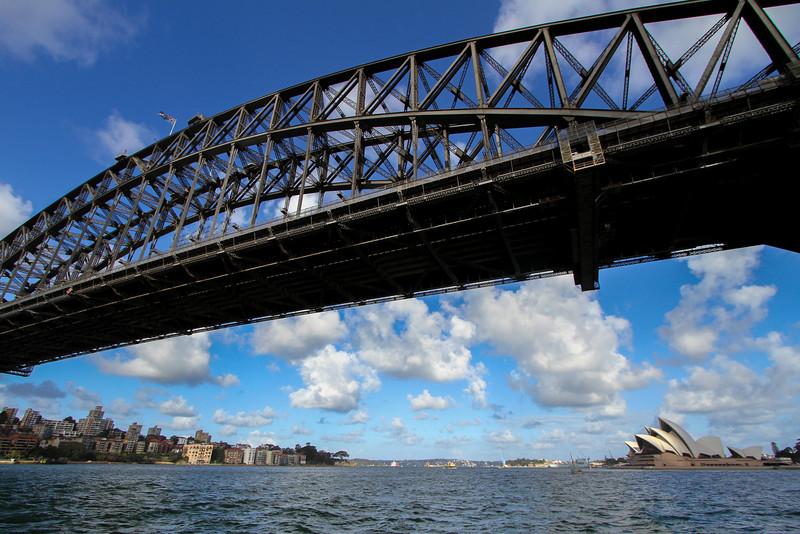Passing under the Harbour Bridge