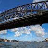 Passing under the Harbour Bridge
