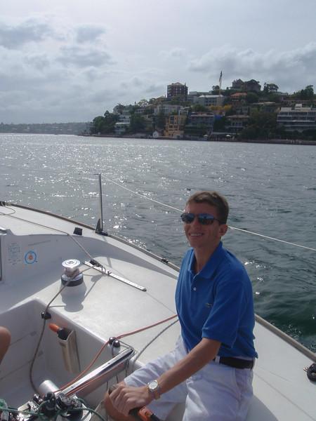 Taking a sailing lesson