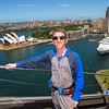 On the Harbour Bridge overlooking the Sydney Opera House