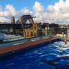 Rooftop pool at the hotel overlooking the Harbour Bridge